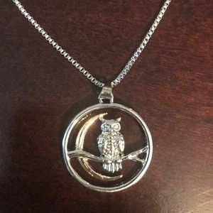 Moonlight Owl Necklace